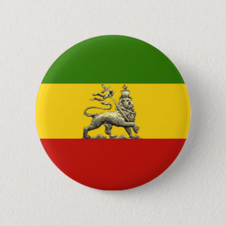 Lion of Judah Button Rastafarian Reggae Colors