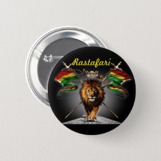 Lion of Judah Button : with lion and flag