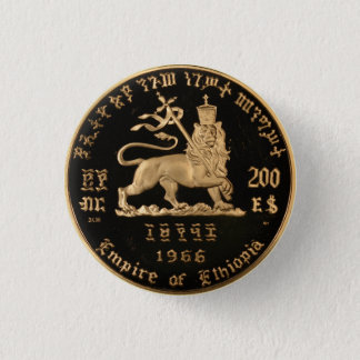 Lion OF Judah - Haile Selassie - Rastafari button