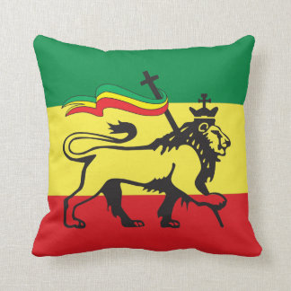 Lion OF Judah - Haile Selassie - Rastafari Pillow