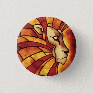 Lion OF Judah - Haile Selassie - Rastafari Sticker 1 Inch Round Button
