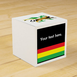 Lion of Judah, Jamaican flag colors Favor Box