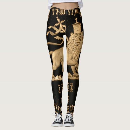 Lion OF Judah - Rasta gold - power Yoga put-went Leggings