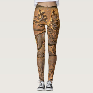 Lion OF Judah - Rasta Reggae - Yoga put-went Leggings