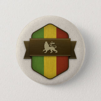 Lion of Judah Rasta Shield 2 Inch Round Button