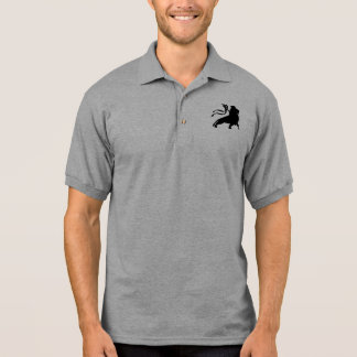 Lion of Judah (simple black) Polo Shirt