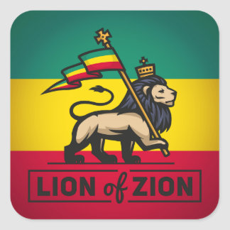 Lion OF Zion - Haile Selassie - Rastafari Sticker
