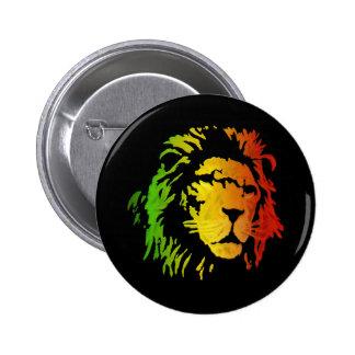 Lion of Zion Judah Reggae Lion 2 Inch Round Button