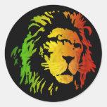 Lion of Zion Judah Reggae Lion Round Sticker