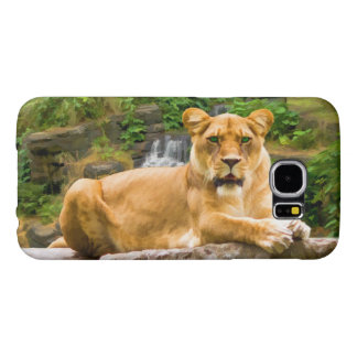 Lion on Rock Samsung Galaxy S6 Cases