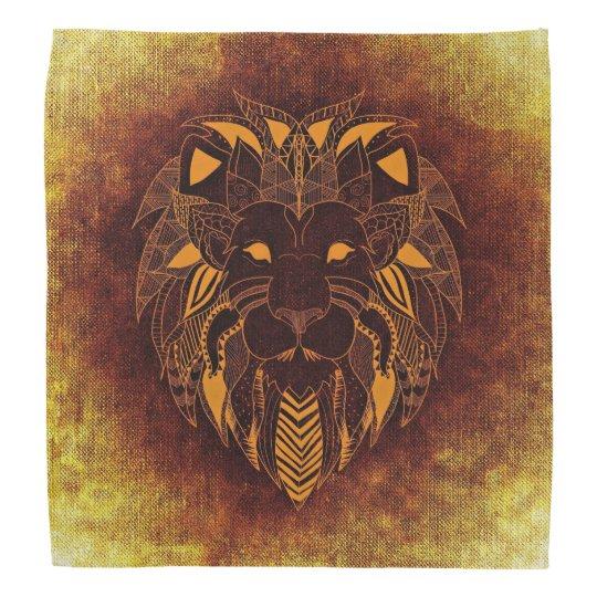 Lion orange bandana