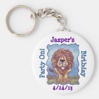 Lion Party Center Keychain