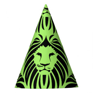 Lion Party Hat-Green Party Hat