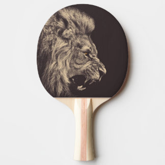 lion pencil art lion roar black and white ping pong paddle