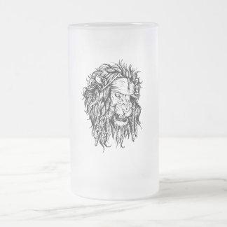 Lion-pirat 16 Oz Frosted Glass Beer Mug