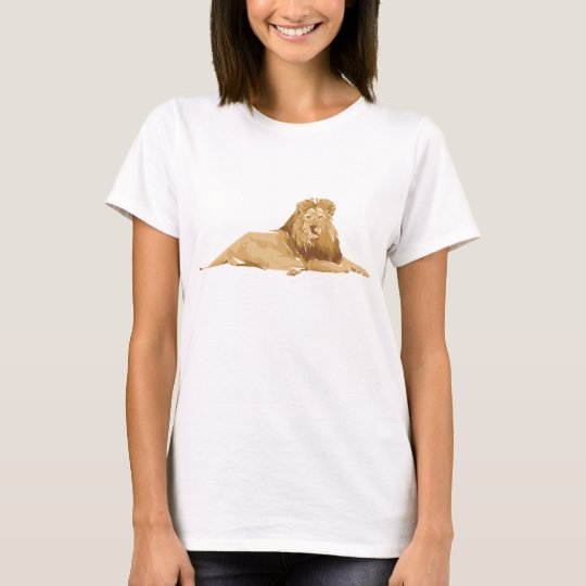 Lion polygon art illustration T-Shirt