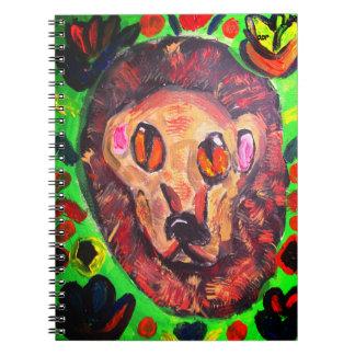 Lion portrait art notebook