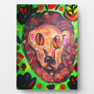Lion portrait art plaque