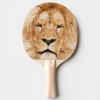 LION PORTRAIT PING PONG PADDLE