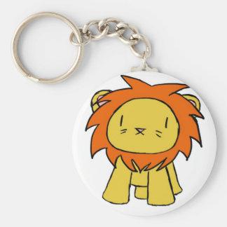 Lion Pride Basic Round Button Keychain