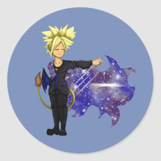 Lion Prince of Galaxies Round Sticker