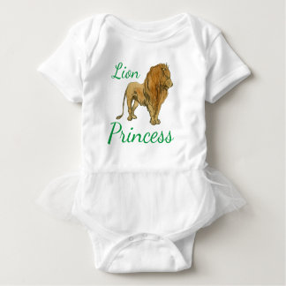 Lion Princess Baby Bodysuit