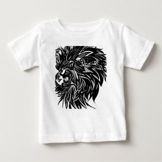 Lion Printed Graphic in Black Baby T-Shirt