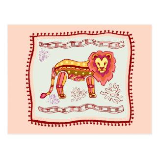 Lion Quilt Postcard