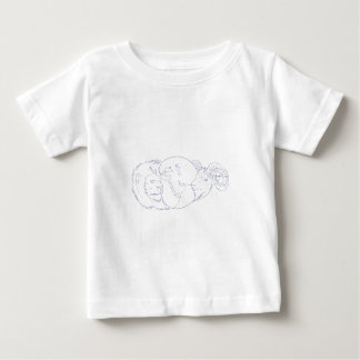 Lion Ram Globe Middle East Drawing Baby T-Shirt