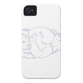 Lion Ram Globe Middle East Drawing Case-Mate iPhone 4 Case