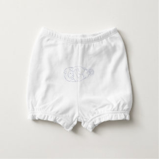 Lion Ram Globe Middle East Drawing Diaper Cover