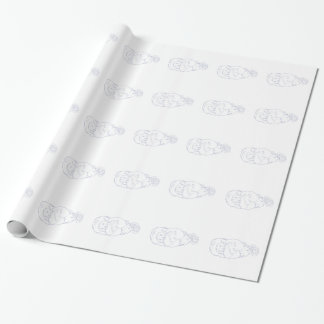 Lion Ram Globe Middle East Drawing Wrapping Paper