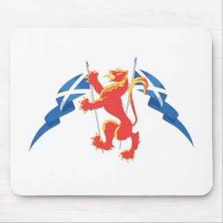 Lion Rampant and Saltires Mouse Pad