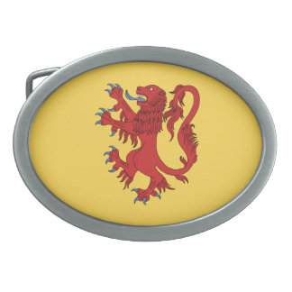 Lion Rampant Gules Oval Belt Buckles