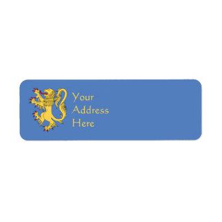 Lion Rampant Return Address Label