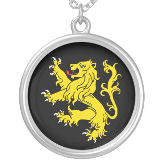Lion Rampant Silver Plated Necklace