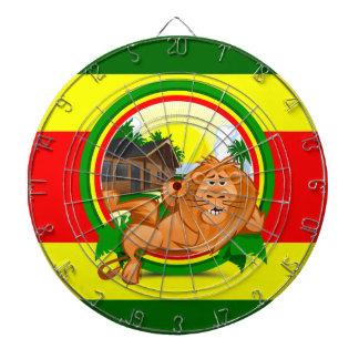 Lion rasta dartboard