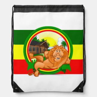 Lion rasta drawstring bag