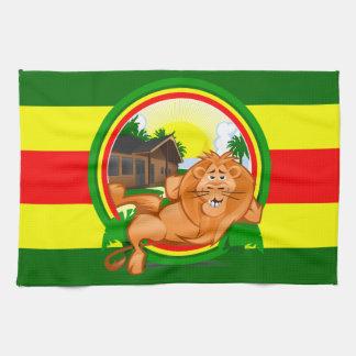 Lion rasta hand towel