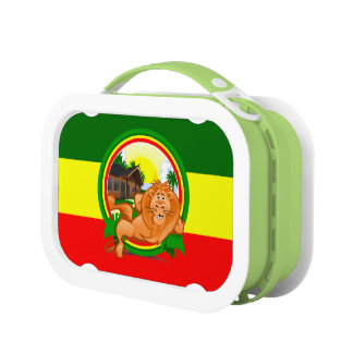 Lion rasta lunch box