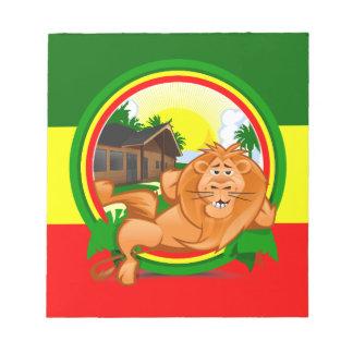 Lion rasta notepad