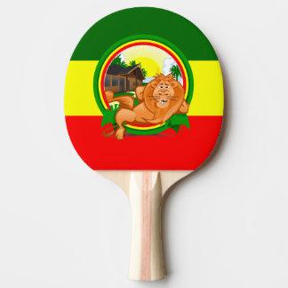Lion rasta ping pong paddle