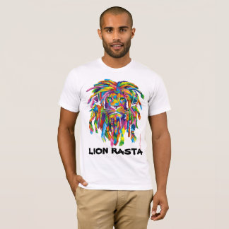 Lion Rasta Rastafarian Dreadlocks Art T shirt