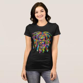 Lion Rasta Rastafarian Dreads Jersey T-shirt