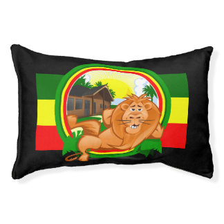 Lion rasta small dog bed