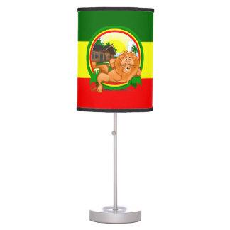 Lion rasta table lamp