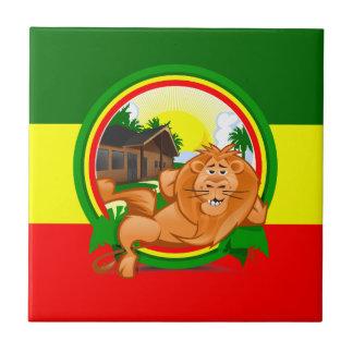 Lion rasta tile