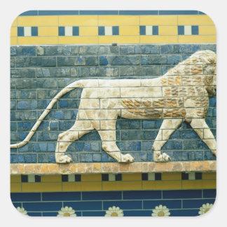 Lion representing Ishtar Square Sticker