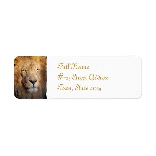 Lion Return Address Mailing Label