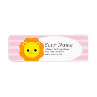 lion  return address stickers return address label